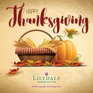 happy thanksgiving 2016, lilydale senior living, st paul mn
