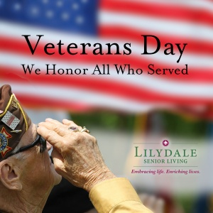 happy veterans day, lilydale senior living, lilydale mn