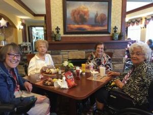 August BBQ-Lilydale Senior Living-Lilydale tenants enjoying their food