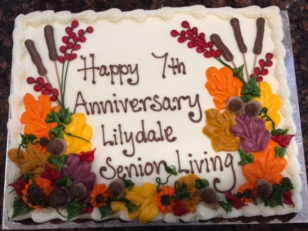Happy 7th Anniversary to Lilydale Senior Living