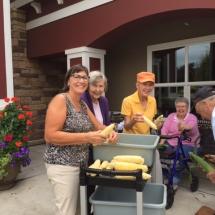 Lilydale Senior Living-Corn Shucking (1)