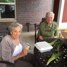 Lilydale Senior Living-Corn Shucking (4)