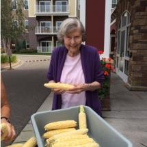 Lilydale Senior Living-Corn Shucking (5)