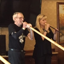 Alphorn Performance-Lilydale Senior Living-playing the Alphorn for the tenants of Lilydale