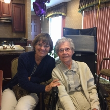 Birthday Party-Lilydale Senior Living-shot of a tenants and family member