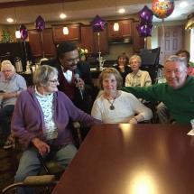 Birthday Party-Lilydale Senior Living-the audience enjoying Monroe singing