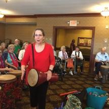 Drumming-Lilydale Senior Living-Cheri Bunker drumming