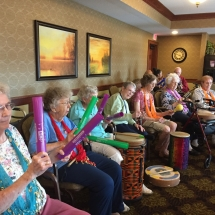 Drumming-Lilydale Senior Living-Group Empowerment drumming