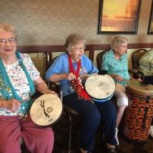 Drumming-Lilydale Senior Living-Having fun drumming