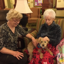 Pet Therapy-Lilydale Senior Living-Ladies getting in there pet therapy