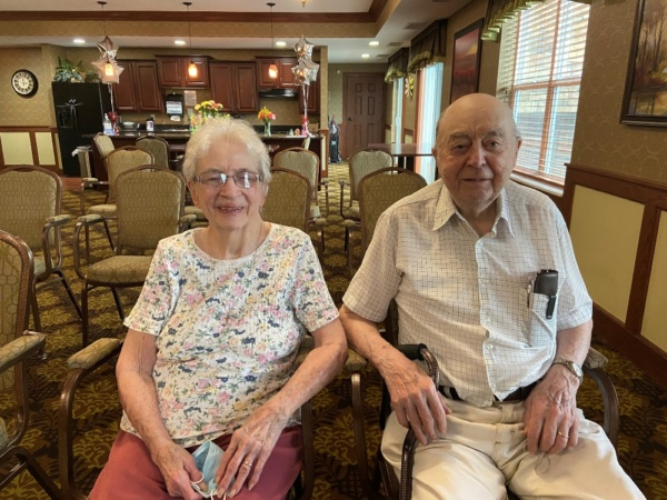 George and Marian K. celebrated their 75th wedding anniversary in June 2021.